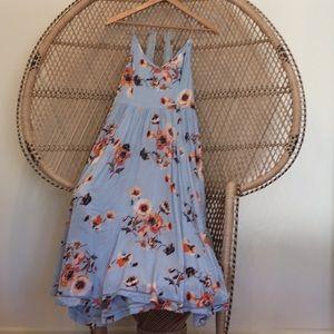 Floral midi tank dress